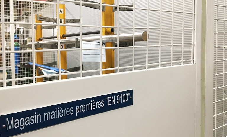 Le Pratique dispose d'une zone de stockage sécurisée Norme EN 9100-2018